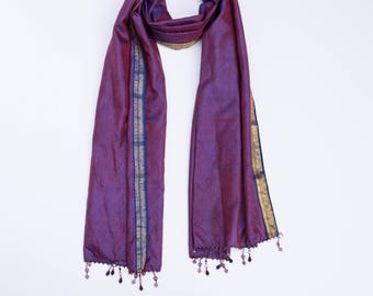 Royal in Purple:  a Laura Eastman Exclusive Beaded Scarf