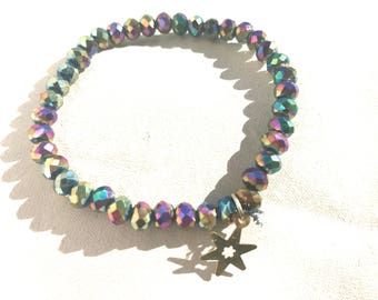 Iridescent Star Stretch Bracelet