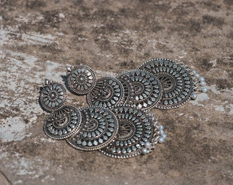 Silver Layered Earring
