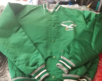 Original 90s XL philadelpbia Eagles starter jacket vintage jacket nfl  jacket satin jacket superbowl 549cfc3d2