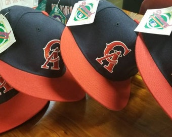 970acbf736e NEW 90s New era California angels hat MLB hat baseball hat size 7