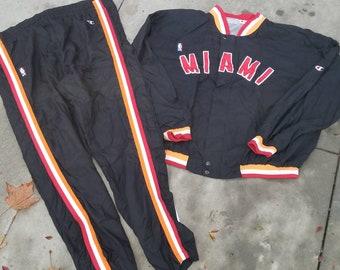 1f8093c47d6 Original 90s Mens 2XL xxl Miami heat champion warm up jacket pants