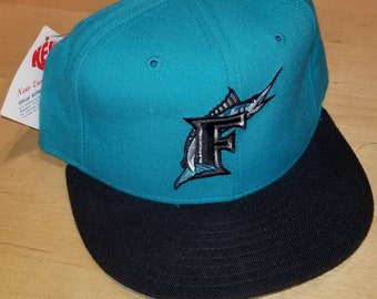 095823852d9419 New original 90s Florida marlins hat New Era fitted size 7, 7 1/8, 7 3/8, 7  1/2, 1 per order new era authentic diamond collection hat