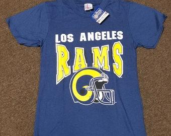 9a4cc5d3 New original 1980s mens SMALL LA Rams shirt , 80s tee,vintage Rams tee,Los  Angeles rams shirt single stitch 16X26 rams grant shirt