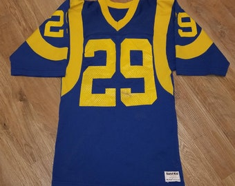 Blue Eric Dickerson #29 Los Angeles Rams 1984 Throwback Mitchell /& Ness Jersey