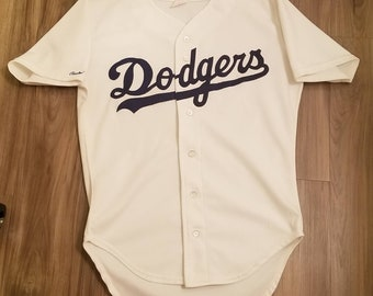 44465749453 1987-1991 Size 42 Small-Med Dodgers jersey Dodgers rawlings jersey