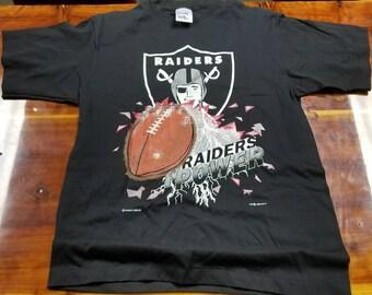 0e71bd9ca New Large 90s Vintage raiders shirt