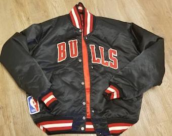 d2b1271e38111d REVERSIBLE vintage 90s Chicago bulls starter jacket size MEDIUM