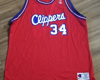 69d26741084 New orignal Size 52/2XL los Angeles clippers jersey, Vintage champion jersey,  la clippers micheal olowokandi jersey