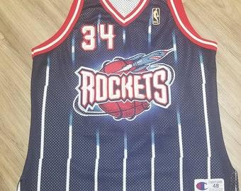 9f966a3d70a 1996-1997 NBA 50th Jersey Size 48/XL champion authentic houston rockets  jersey, rockets champion jersey size 48 Hakeem olajuwon jersey