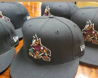 New 90s NWT Arizona Coyotes New Era Hat size 7 e2a187543a6