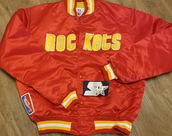 94598dcec New original Houston rockets starter jacket LARGE vintage 90s jacket