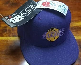 2c1ca844a9733d 1995 New New Era 5950 size 7, 90s LA lakers snapback hat,vtg hat, vintage  hat,vintage nba hat snapback, Kobe Bryant
