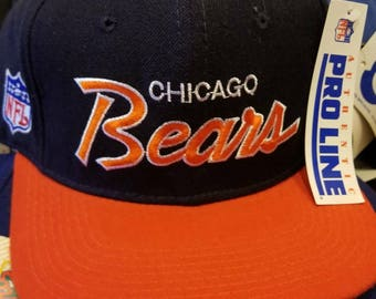 Deadstock 90s Chicago bears sports specialties hat fitted 7 3 8 ec4568a23cc0