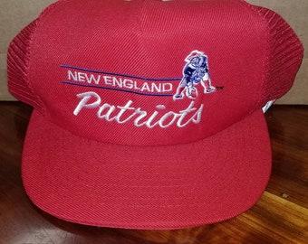 fedd8a2391f5d 1980s New England patriots hat snapback vintage nfl snapback