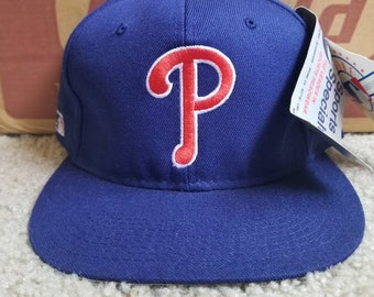 more photos 1c4c7 c8457 New 90s vintage Philadelphia Phillies sports specialties fitted hat size 7  3 4 deadstock,NEW with orignal tags 90s mlb baseball hat