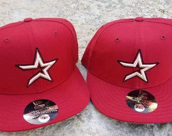 Houston astros hat 90s new era fitted size 7 d46266200126