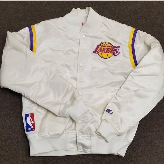 Large Lakers Starter Jacketlakers Jacket 90s Jacket Vintage Etsy