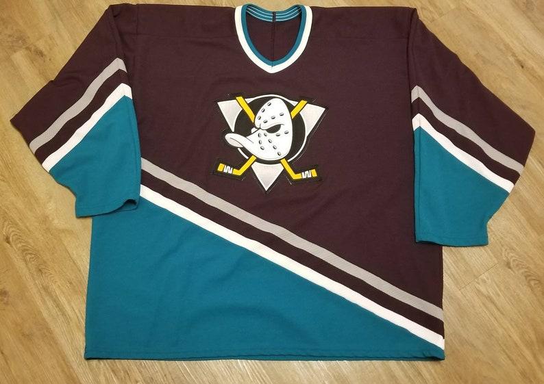 buy online 0f9fd b9560 original 90s 2XL Anaheim mighty ducks jersey