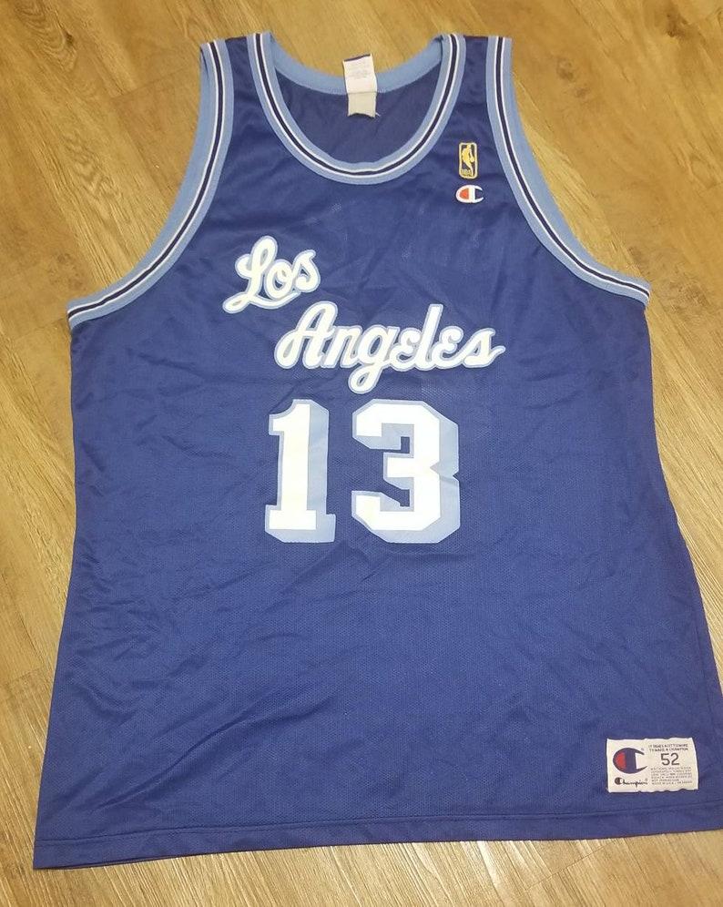 48f7ba7d42d Size 52 XL Lakers champion jersey nba 50th jersey wilt