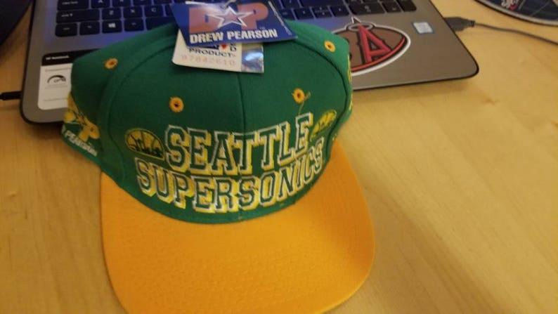 90s Seattle supersonic hatvtg hat vintage hat vintage nba  07e7b7272e5