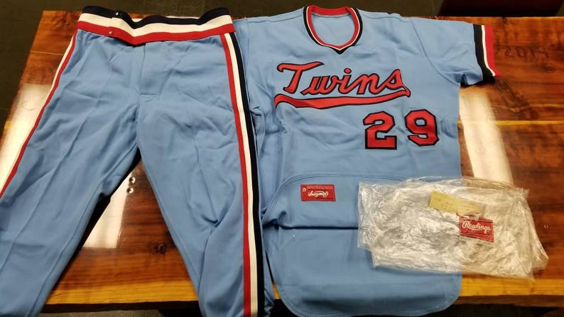 940cd692169 Size 44/large Minnesota twins team issued sample jersey | Etsy