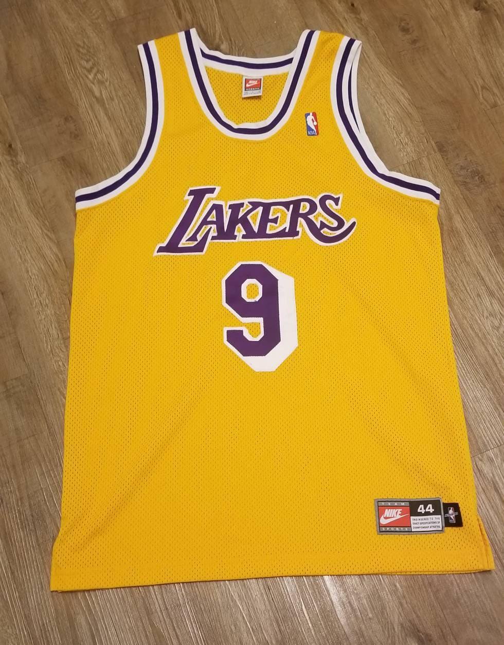 555dffded 1997-98 Nick van exel jersey nike jerseylakers jersey Nike