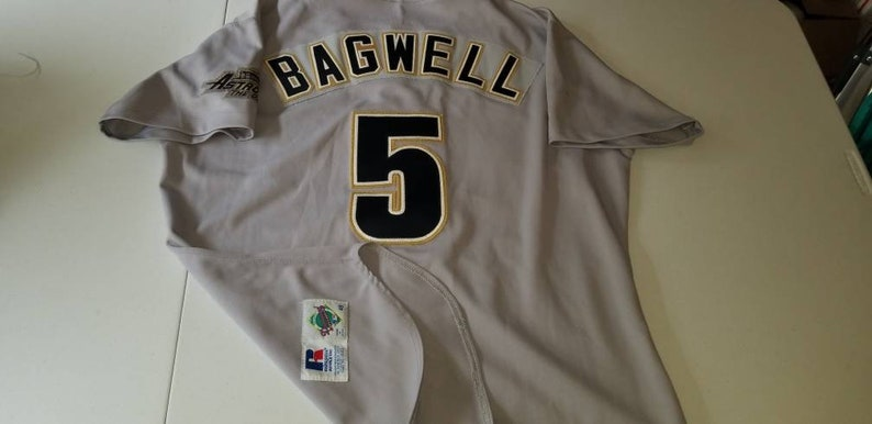 buy popular 8034e 12089 1995 houston astros jersey, russell authentic diamond jersey size 48  vintage baseball jersey, jeff Bagwell