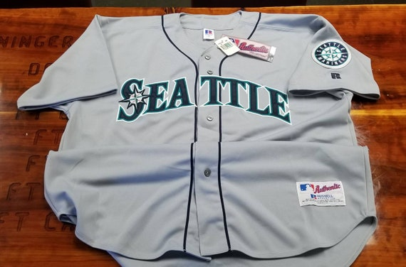 buy online 70948 3b883 NEW Seattle Mariners jersey size 52/2XL russell authentic diamond jersey  90s jersey