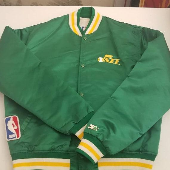 LARGE rare Utah jazz starter jacket 80s 90s nba st