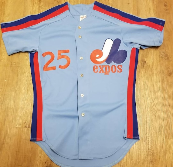 90s Size 44 Montreal Expos jersey rawlings basebal