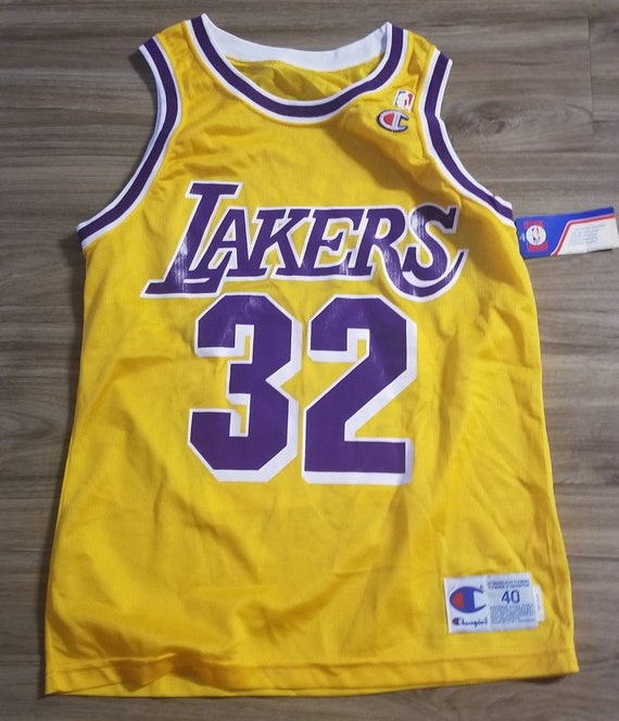Size 40/medium magic Johnson jersey 80s 90s champion   Etsy
