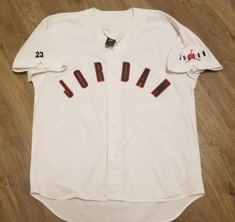 17f23b64805e3f LARGE 90s Nike Jordan baseball jersey Vintage nike jersey