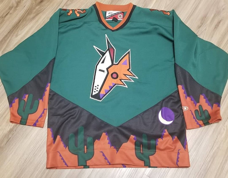 outlet store d3deb f445e 1998 Phoenix coyotes jersey, 90s jersey medium proplayer jersey,nhl hockey  jersey,Coyotes 3rd alternate jersey