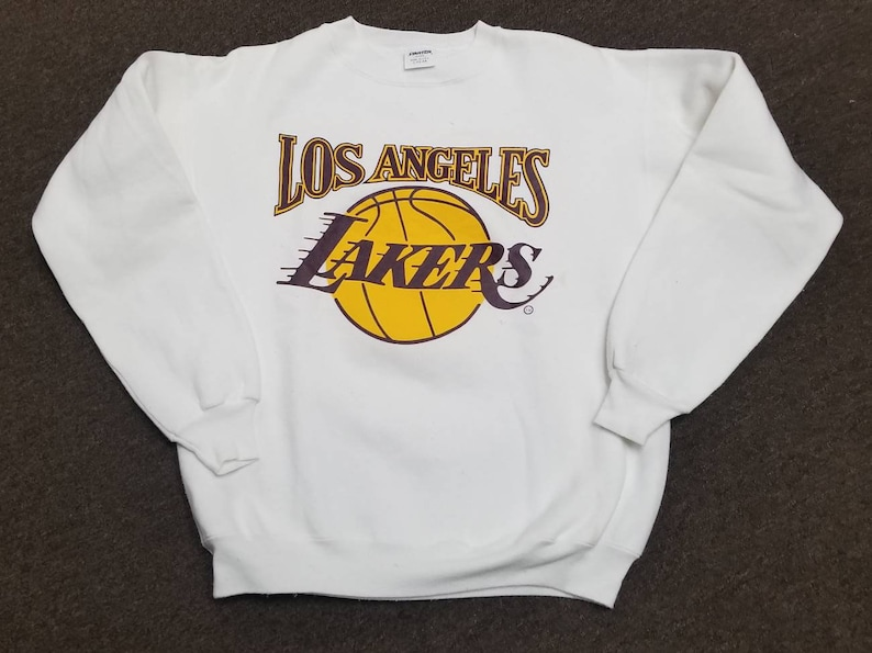 0d8ff927a Large 80s 90s LA Lakers starter sweather vintage Lakers