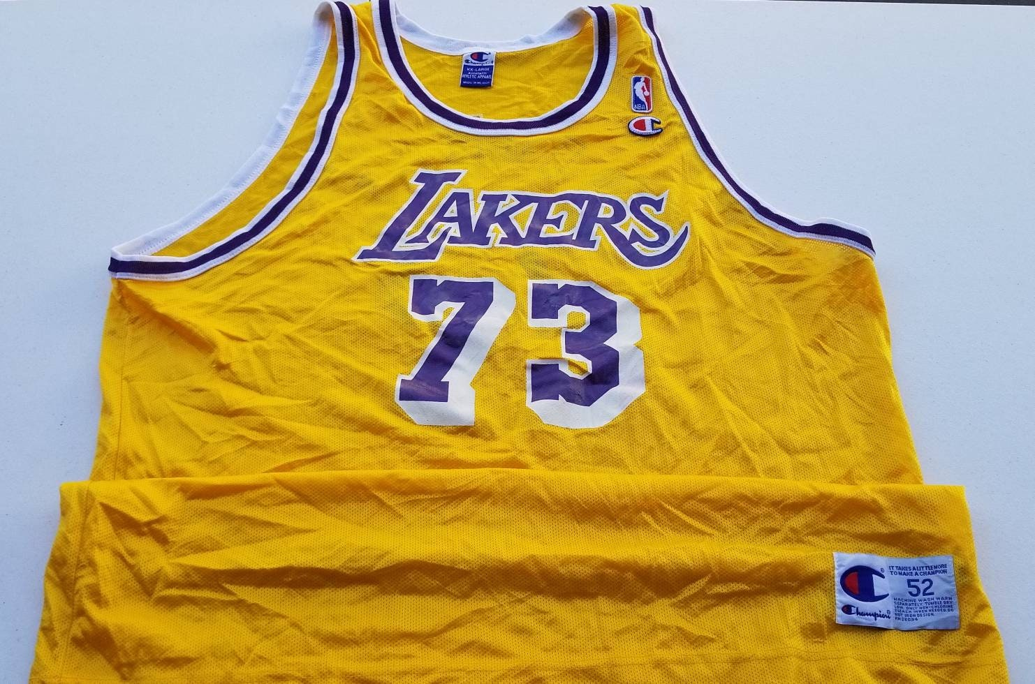 finest selection c99c0 7df76 Size 52/2XL dennis rodman jersey, lakers jersey, champion jersey size 52,  Lakers jersey,