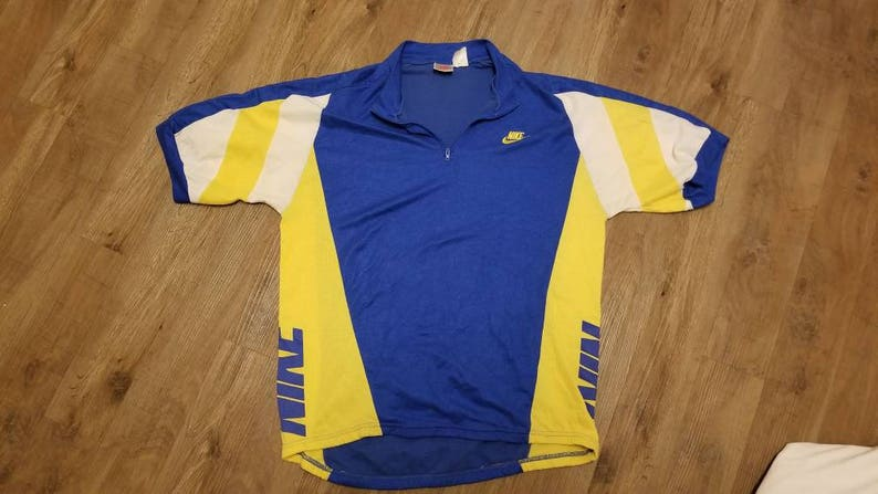 Large vintage nike cycling jersey90s jersey cycling  04a132a33
