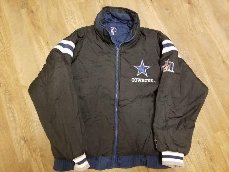 newest e6963 d29df Large Dallas cowboys jacket,vintage proline jacket, 90s, reversible cowboys  jacket,