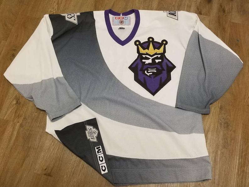 watch 01804 9844e 90s Size XL Los Angeles kings jersey ccm jersey LA kings 3rd jersey burger  king jersey
