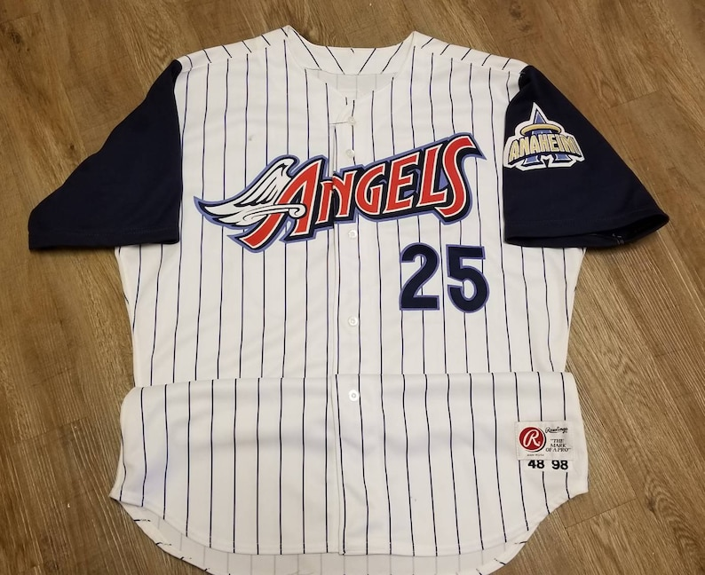6dc713e7309 GAME USED 1998 Anaheim angels jersey size 48 XL rawlings