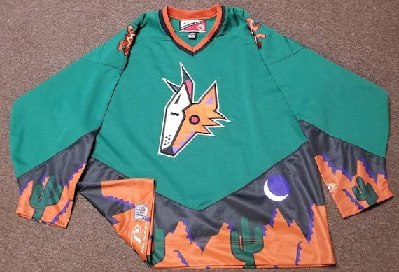 1998 Phoenix coyotes jersey, 90s hockey jersey,nhl
