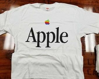 New LARGE vintage apple shirt tee, apple computers Steve Jobs