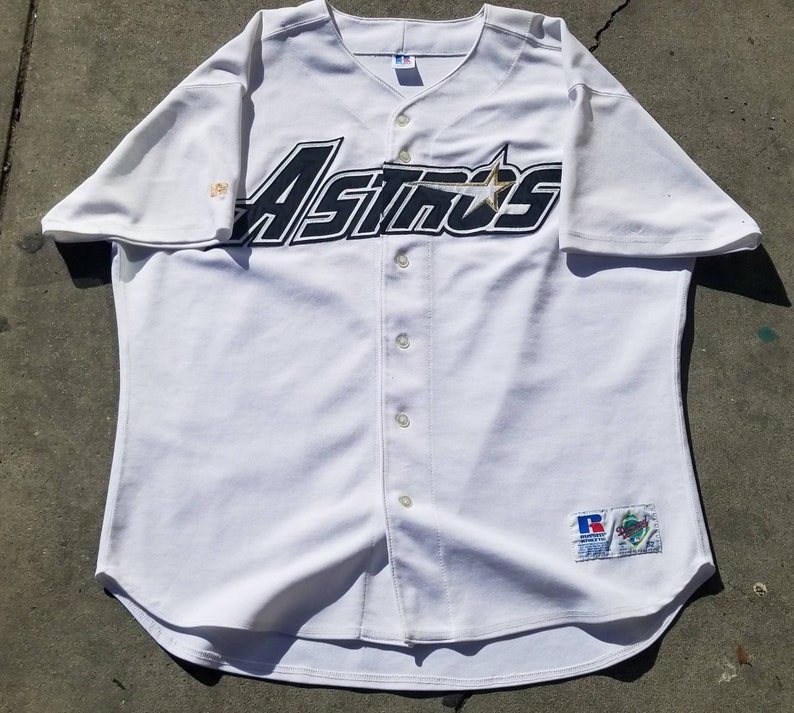 super popular 70ee4 8a2df 90s houston astros jersey, russell authentic diamond jersey size 52/ 2xl  vintage baseball jersey,houston astrodome