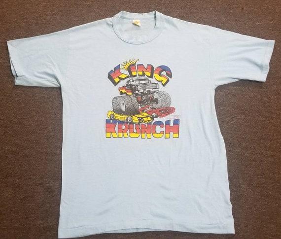 1980s king krunch monster truck shirt big foot mon
