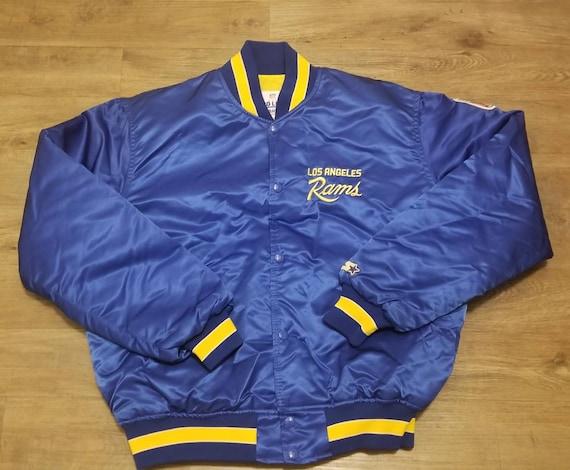 Large Rams starter jacket,90s, vintage starter jac