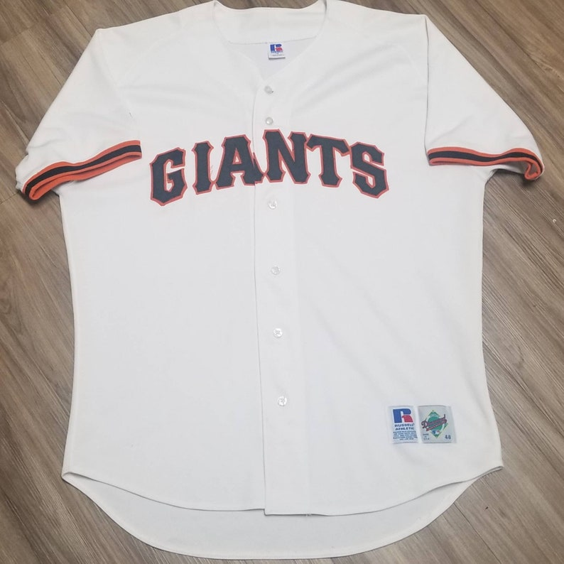 purchase cheap 1ff16 073b3 90s Size 48/ XL San francisco giants jersey, Giants russell authentic jersey