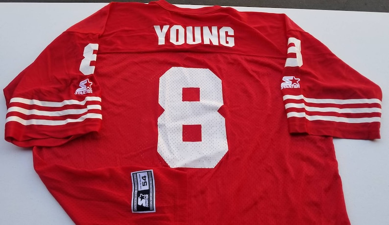 official photos 8cc88 91ae0 90s New original deadstock STEVE YOUNG san Francisco 49ers starter football  jersey size 54/2xl niners jersey