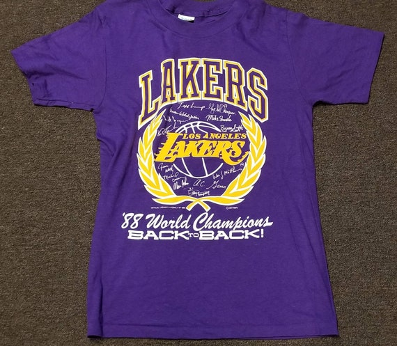 New original 1988 Small LA Lakers shirt LA lakers