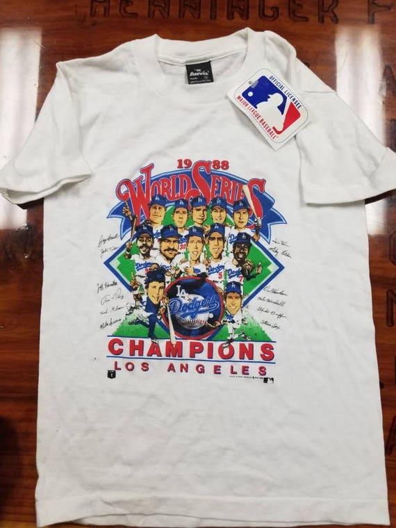 YOUTH size Medium dead stock world series shirt 1988 dodgers  4c66c508674