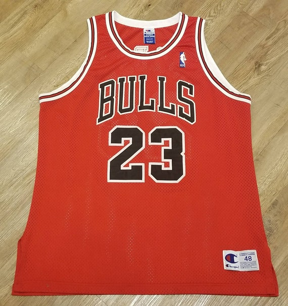 official photos c65d5 7cad3 1995-1996 Michael jordan Chicago bulls champion jersey size 48 authentic  bulls jersey